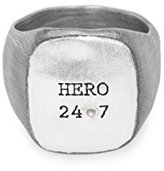 """Bjorg Hero 24-7"""" Black and 18ct Rose Gold Plated Sterling Silver Ring - Size T"""