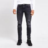 River Island Black ripped Sid skinny jeans