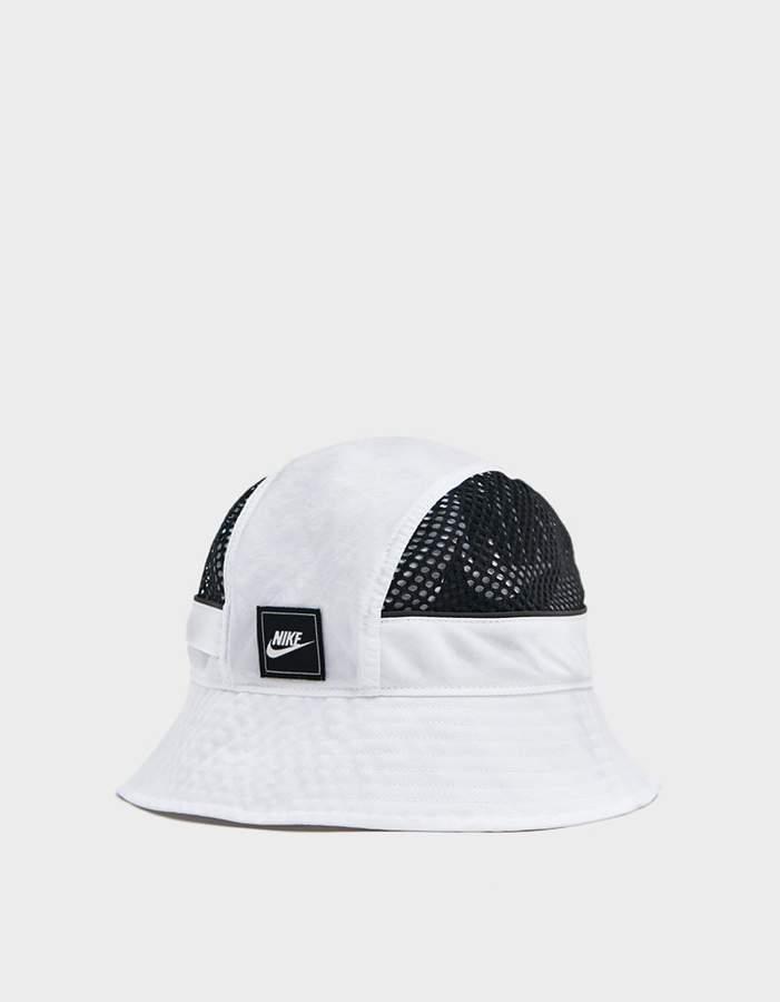 2a63a71e7 Mesh Bucket Hat in White