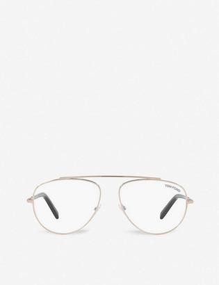 Tom Ford FT5622-B acetate aviator-frame eyeglasses