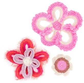 Molly Goddard Knitted Flower Brooches