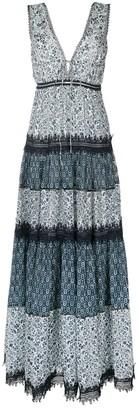 Jonathan Simkhai Patchwork Print Maxi Dress