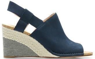 Clarks Spiced Bay Espadrille Wedge Sandals in Suede