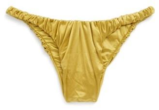 Isa Boulder - Jessie Gathered High-leg Bikini Briefs - Yellow