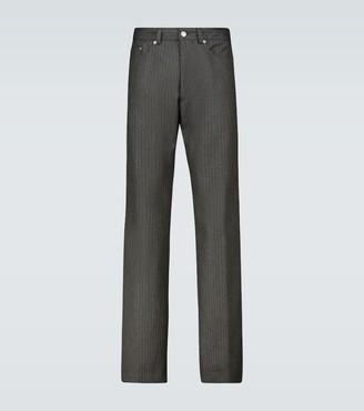 Dries Van Noten Pinstriped wool pants