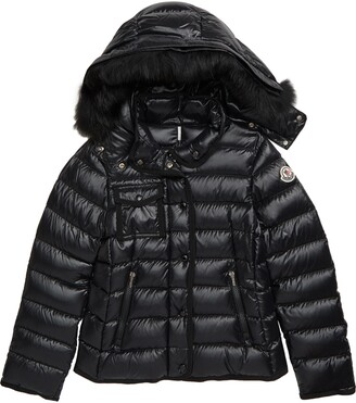 Moncler New Armoise Hooded Down Jacket with Genuine Fox Fur Trim