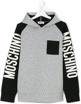 Moschino Kids two tone hoodie