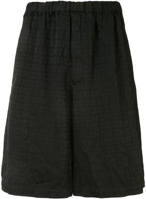 Comme des Garcons Jacquard Wide-Leg Shorts