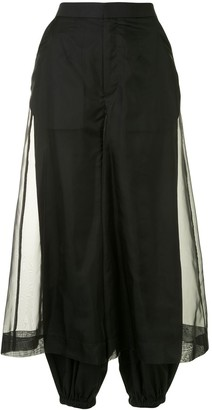 Enfold Sheer-Panel Tapered Trousers