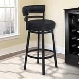"Glouscester Swivel Bar & Counter Stool Latitude Run Color: Black, Seat Height: Bar Stool (30"" Seat Height)"