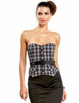 Plaid Western Belted Bustier