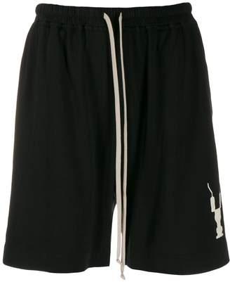 Rick Owens printed logo shorts
