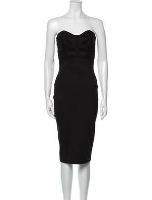 Kimberly Ovitz Strapless Mini Dress Black