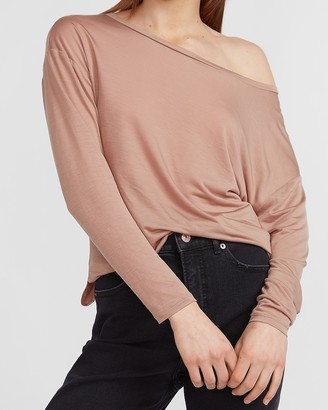 Express Relaxed Off The Shoulder Tee