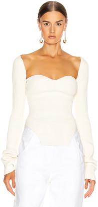 KHAITE Maddy Long Bustier Top in Cream | FWRD