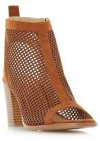 Head Over Heels by Dune Ladies JINXX Perforated Peep Toe Sandal in Tan