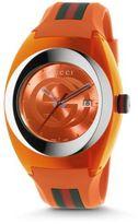Gucci Signature Orange Rubber Strap Watch