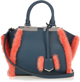 Fendi 3Jours mini mink-fur trim leather tote