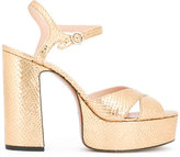 Marc Jacobs textured sandals - women - Calf Leather/Leather - 39