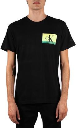 Calvin Klein Jeans Black Printed Cotton T-shirt
