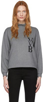 Victoria Victoria Beckham Grey Raised Logo Top