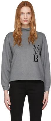 Victoria Victoria Beckham Grey Raised Logo Top