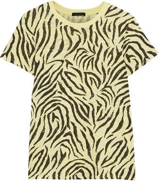 ATM Anthony Thomas Melillo Zebra-print Slub Cotton-jersey T-shirt