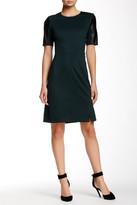 Alexia Admor Faux Leather Sleeve Dress