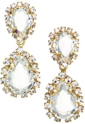 Rosantica Crystal Dangle Goldtone Earrings