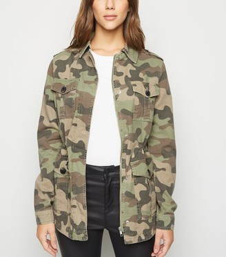 New Look Camo 4 Pocket Lightweight Jacket