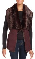 Bagatelle Faux Fur Lapel Open Front Vest
