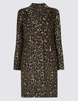 M&S Collection 2 Pocket Animal Print Coat