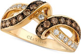 LeVian Le Vian Chocolatier® Diamond Interlocking Ring (9/10 ct. t.w.) in 14k Gold