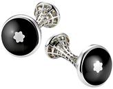 Montblanc Skeletted Round Cufflinks, Black/silver