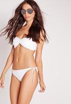 Missguided White Tie Side Bikini Bottoms - Mix & Match
