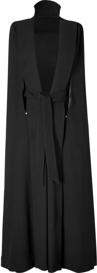 Marios Schwab Wool Cape in Black