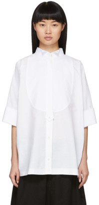 Sacai White Cropped Sleeve Shirt