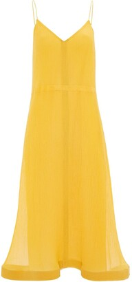 J.W.Anderson Trumpet Hem Pleated Dress