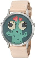 Fossil Women's ES4214 Vintage Muse Two-Hand Vanilla Leather Watch
