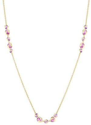 MARINA B 18K Yellow Gold Purple Quartz Chain Necklace