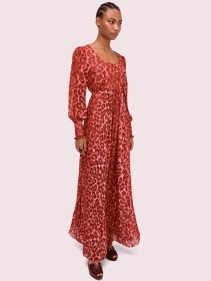 Kate Spade Panthera Chiffon Midi Dress