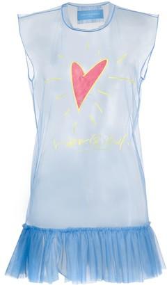 Viktor & Rolf Sheer Logo Print Vest Top