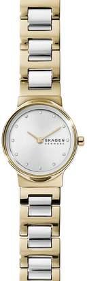 Skagen Freja Two-Tone Link Bracelet Watch, 26mm