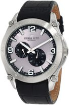 Pierre Petit Men's P-804A Serie Le Mans Automatic Sunray Dial Genuine Leather Watch