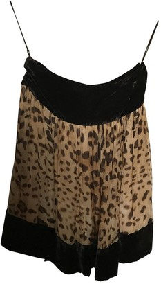 Dolce & Gabbana Brown Silk Skirt for Women