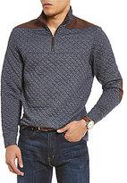 Daniel Cremieux Quilted Quarter-Zip Long-Sleeve Sweater