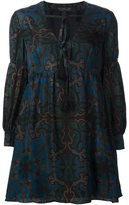 Rachel Zoe printed silk mini-dress