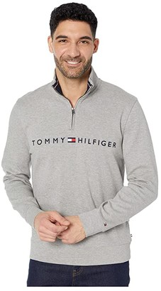 Tommy Hilfiger Will 1/4 Zip Mock (Sport Grey Heather) Men's Clothing