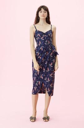 Rebecca Taylor Sprig Floral Print Wrap Dress