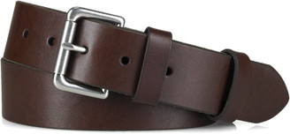 Ralph Lauren Leather Roller-Buckle Belt